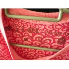เสื้อ LOL Vintage สกรีนลาย กลีบดอกไม้  สีชมพู ทั้งตัว Size L ผ้านุ่ม ลายแปลก
